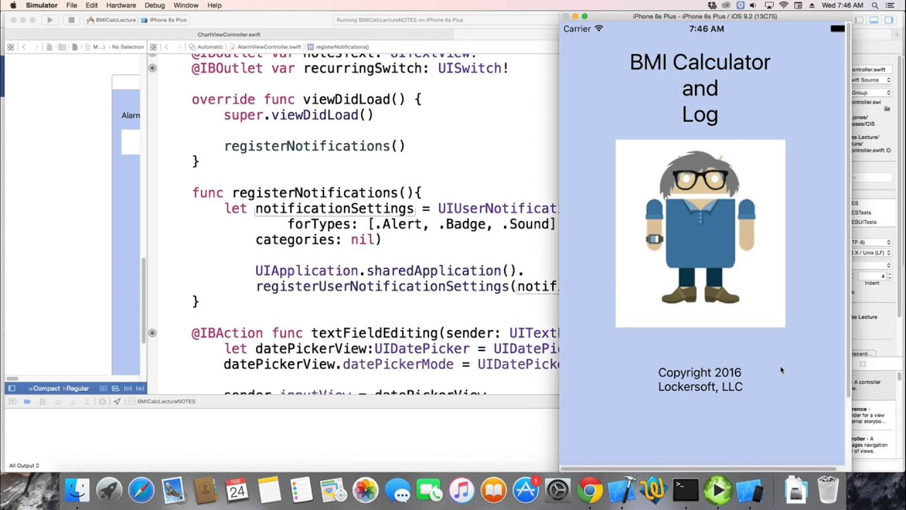 iOS Swift 2 2 Mobile Development - Lecture 22/25 - Alarms