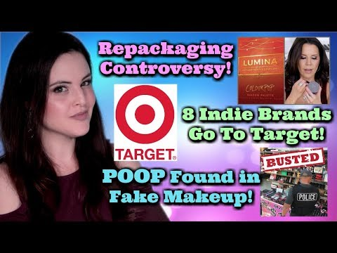 What's Up in Makeup NEWS! Repackaged Bait and Switch? Indie Brands at Target! Poop Found in Makeup!