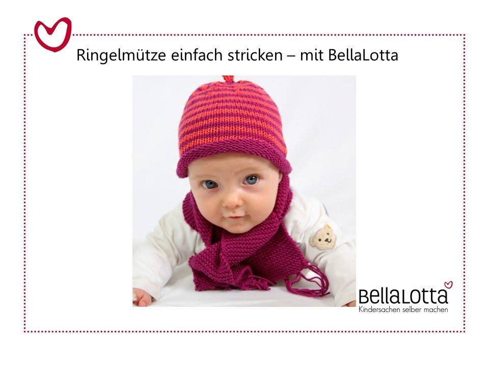 Babymütze einfach stricken - Mütze stricken für Anfänger - YouTube