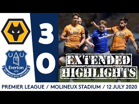 EXTENDED HIGHLIGHTS: WOLVES 3-0 EVERTON