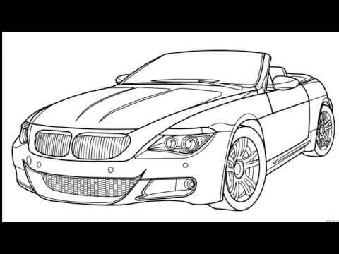 How To Draw A Car Bmw Drawing Youtube