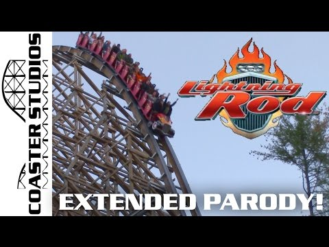 Coaster Parody: Lightning Rod at Dollywood EXTENDED CUT