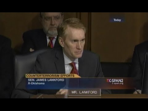 Senator Lankford Questions NCTC Director at Intelligence Committee Hearing