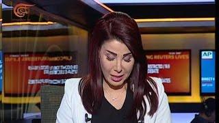 رامية ابراهيم تبكي على هواء الميادين متأثرة بمشاهد ضحايا مجزرة صنعاء