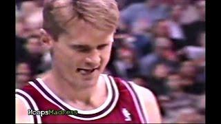Steve Kerr 1996 All-Star 3 Point Contest Highlights - (Phil Jackson's Reaction)
