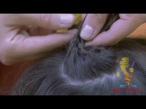 Как заплести улитку из волос ребенку видео