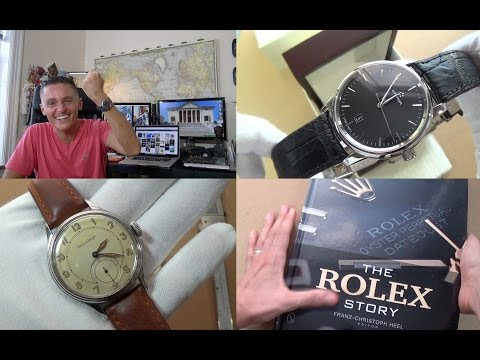 An Introduction To JLC & 1940s Military Watch Review, The Story Of Rolex Book + Eterna Unboxing