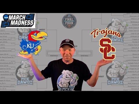 Kansas vs USC 3/22/21 Free College Basketball Pick and Prediction NCAA Tournament