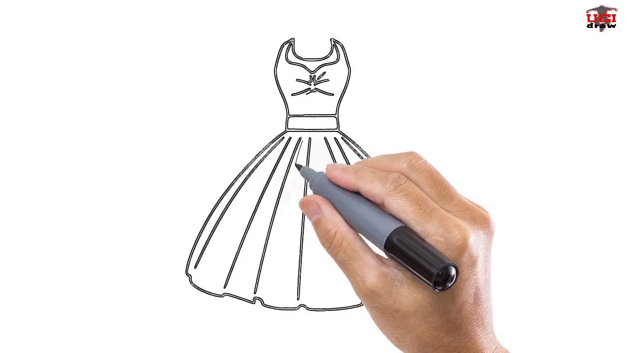 How to Draw a Dress Easy Step By Step Drawing Tutorials ...