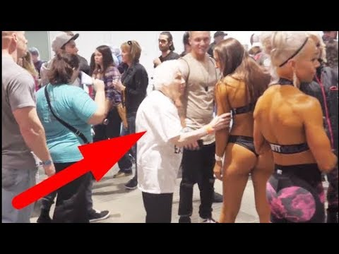 Grandma Messes With Bodybuilders - Granny Fun - Funny Grandma