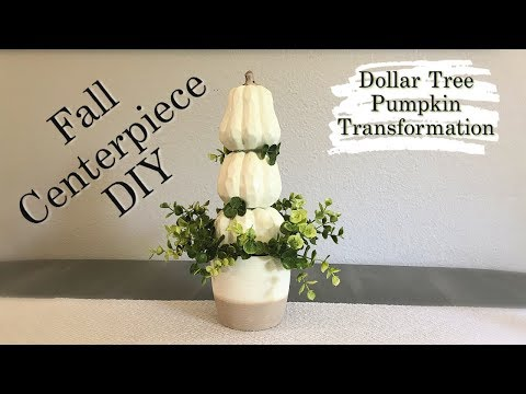 Fall Dollar Tree DIY | Fall Centerpiece | Dollar Tree Pumpkin Transformation