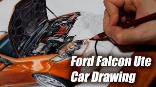 Ford Falcon Ute FG Australian Car Drawing | Orhan Ozvatan