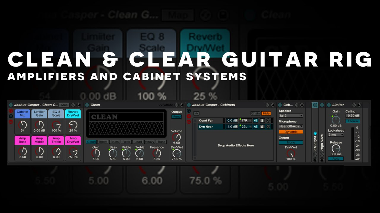 Ableton Tutorial Setting Up Amps Cabinets For Guitars Youtube