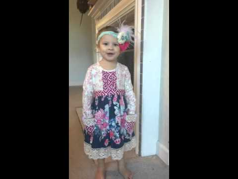 2 year old sings 50 states in alphabetical order