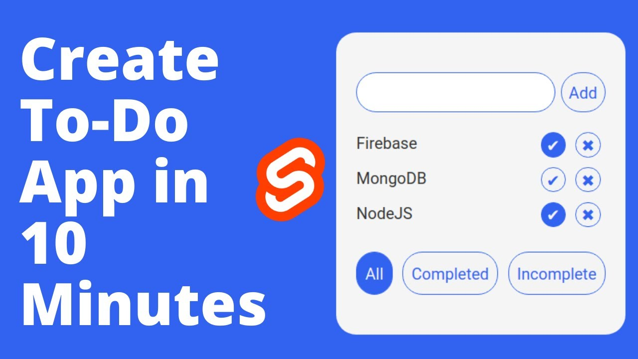 Create Simple To-Do App in 10 Minutes with Svelte   HTML, CSS & JavaScript