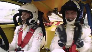 BBC F1 2015: Jenson Button and David Coulthard doing Rallycross