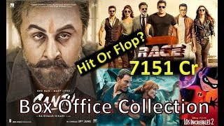 Box Office Collection Of Sanju, Race 3 , Incredible 2, Jurassic World 2 etc 2018