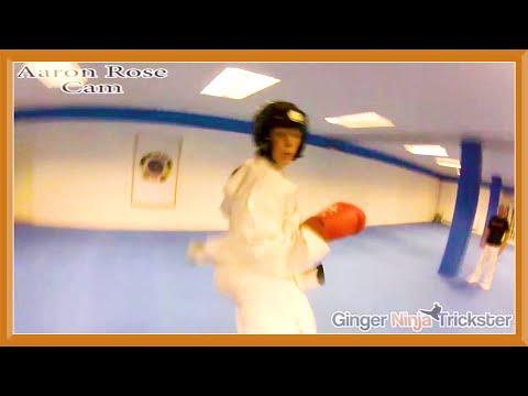Taekwondo Sparring Session (GNT Vs Aaron Rose)   Ginger Ninja Trickster
