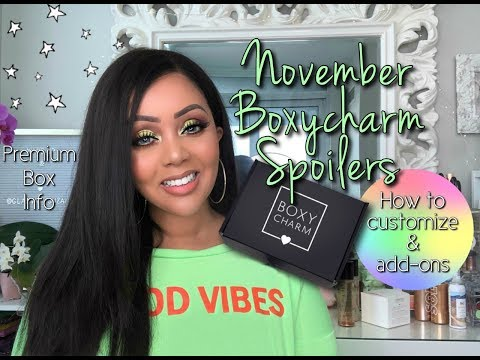 NOVEMBER BOXYCHARM SPOILERS 2019 , HOW TO CUSTOMIZE, ADD-ONS, & PREMIUM INFO || BOXYCHARMSNEAKPEEK thumbnail