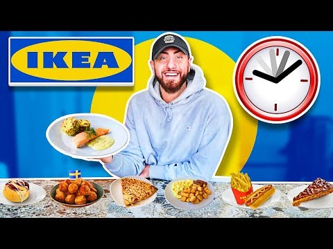 I Only Ate IKEA FOODS For 24 HOURS! (IMPOSSIBLE FOOD CHALLENGE)