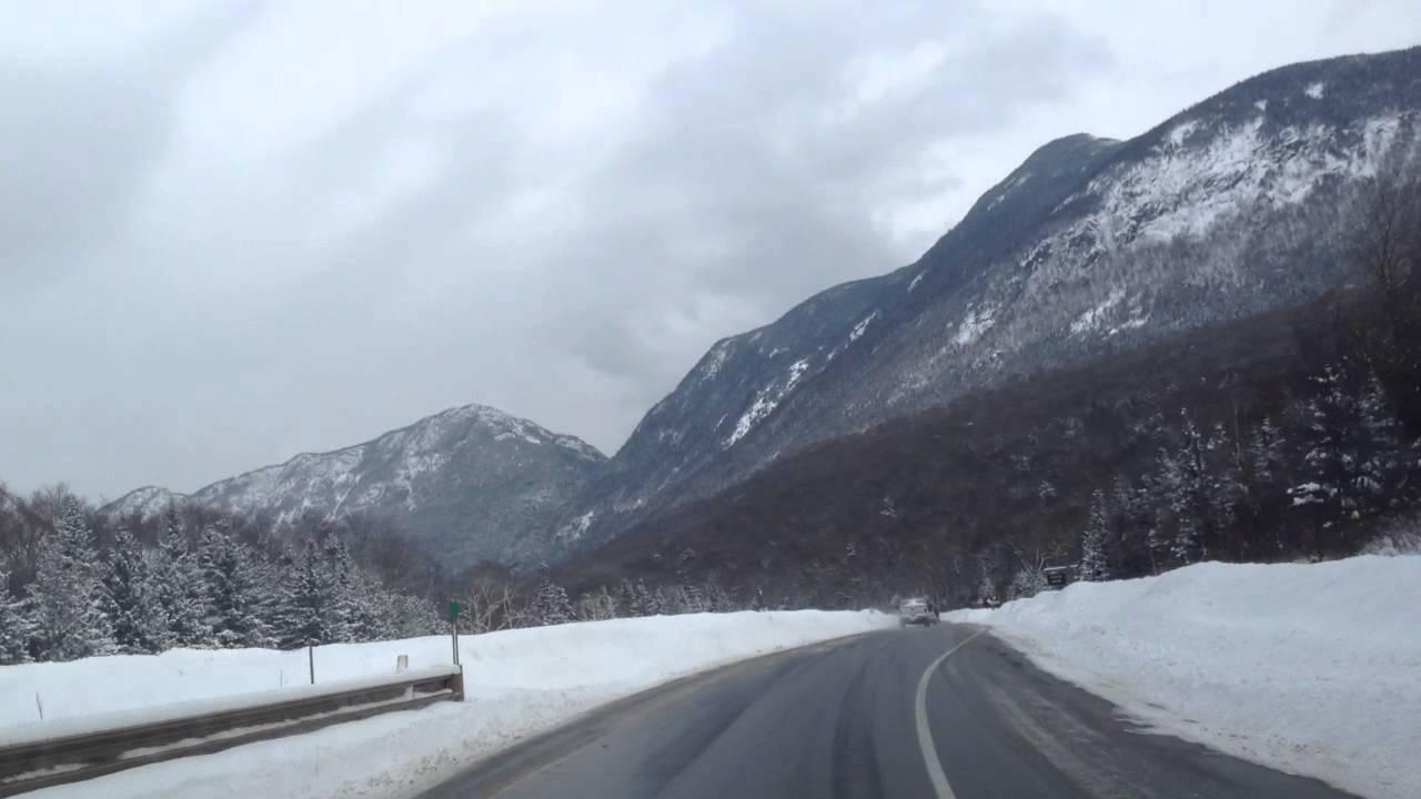 Franconia Notch New Hampshire White Mountains Dash Cam