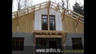 Монтаж каркасно-панельного дома производства