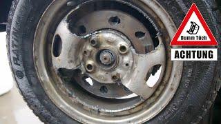 Bremsscheibe selber lochen - selfmade Tuning | Dumm Tüch