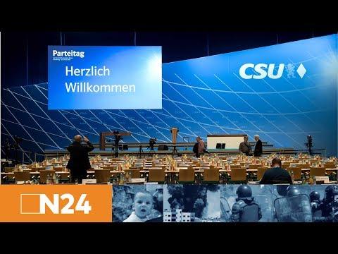 In der Höhle der bayerischen Löwen: Angela Merkel spricht auf dem CSU-Parteitag in Nürnberg