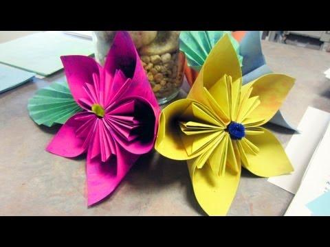 C mo hacer una flor de kudasama youtube - Como hacer flores ...
