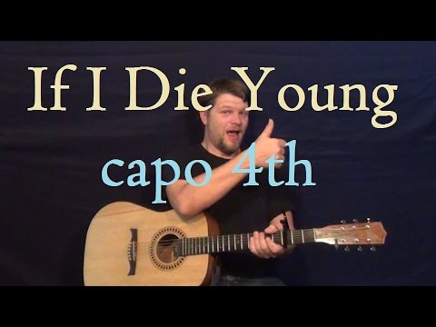 If I Die Young (The Band Perry) Guitar Lesson Easy Strum How to Play ...