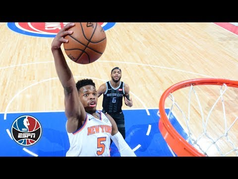 Dennis Smith Jr. flashes big dunks in Knicks' loss to Pistons | NBA Highlights Mp3