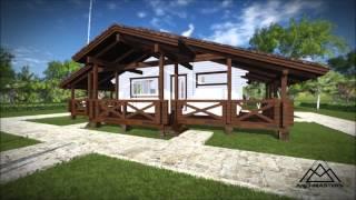 Одноэтажный дом из бруса в стиле Шале(Архитектурно - дизайнерская мастерская ArchMasters http://archmasters.ru/, 2014-09-08T20:08:35.000Z)