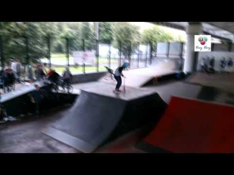 Триал на самокате! Трюки в Лужниках. Chilli Pro Scooter. Veryvery.ru. Video Test Sony Xperia Z