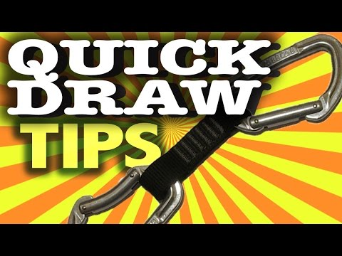 Rock Climbing Techniques — Using quickdraws and carabiners to avoid epic falls with proper safety