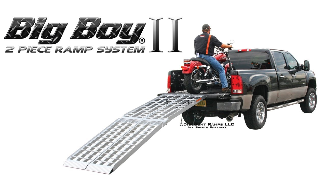 Big Boy Ii Two Piece Folding Aluminum Motorcycle Ramp Youtube