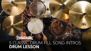 5 Classic Drum Fill Song Intros 🥁 | Drum Lesson