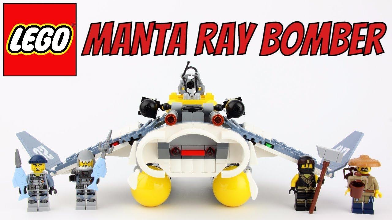 55bf937c0 LEGO Ninjago Movie Manta Ray Bomber - Unboxing, Speed Build and Review