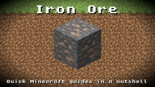 Minecraft - Iron Ore! Recipe, Item ID, Information! *Up to date!*