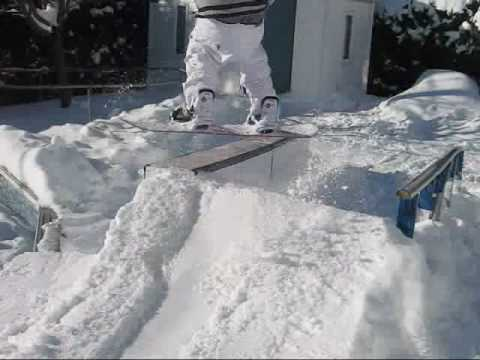 Thug Backyard Setup YouTube - Backyard snowboarding