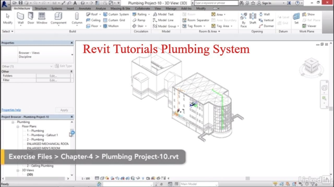 Revit Plumbing tutorials | 05 10 Tagging pipes - Смотреть