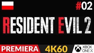 Resident Evil 2 PL - Remake 2019  #2 (odc.2)  Niebieski klucz | Gameplay po polsku w 4K + puls