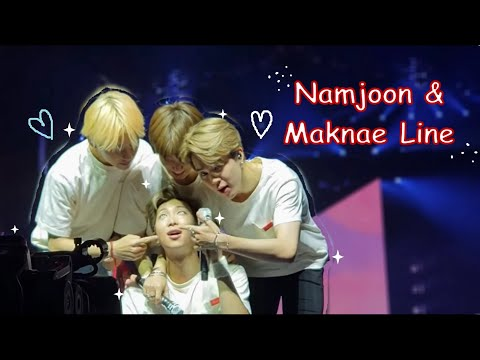 namjoon and his 3 annoying kids - NamjoonXMaknaeLine