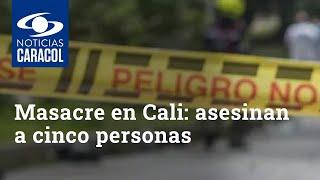 Masacre en Cali: asesinan a cinco personas cerca de Llano Verde YouTube Videos