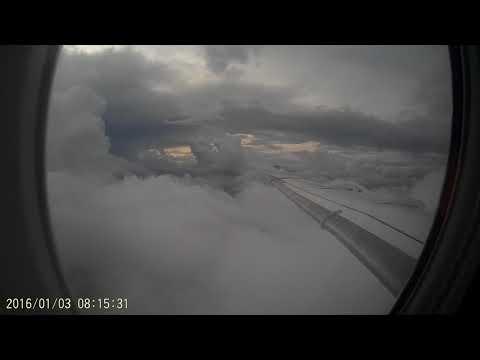 Landing in a fokker 100 in David, Panama