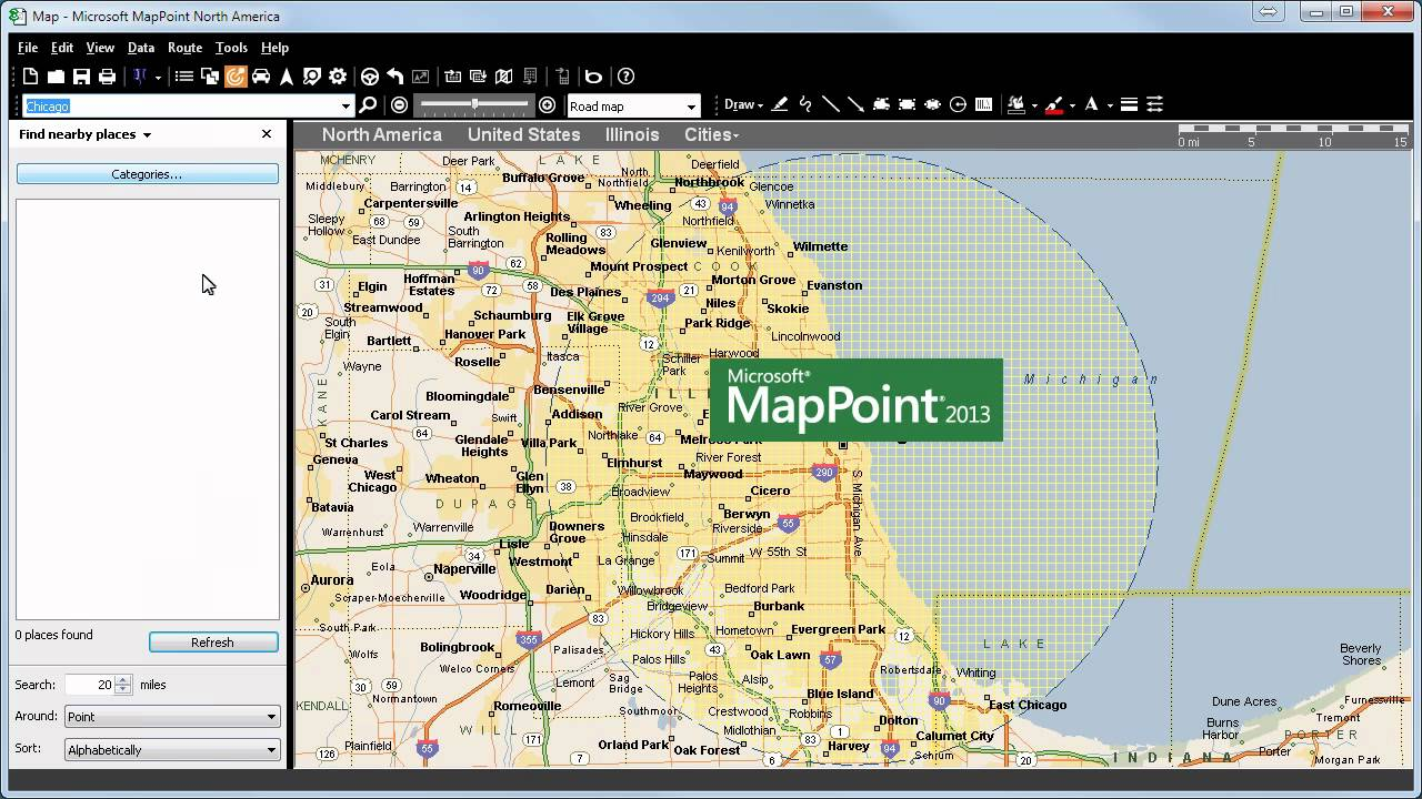 POIs : MapPoint 2013 vs. MapPoint 2011 - YouTube