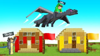 I STOLE The ENDERDRAGON In My MINECRAFT TROLL WORLD!