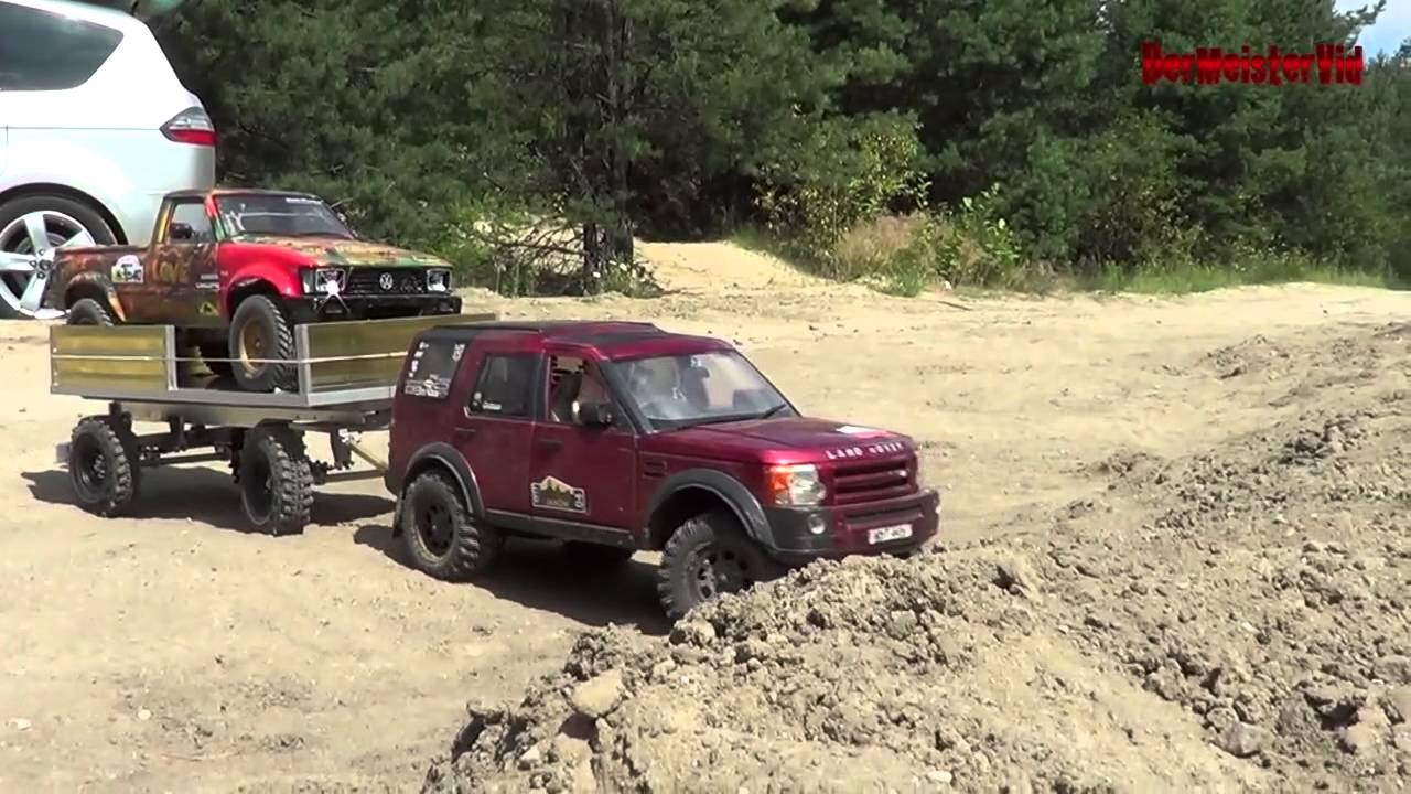 Rc Land Rover Discovery 3 Big Trailer Youtube
