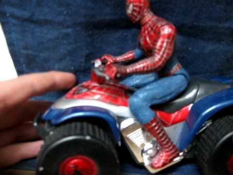 Spider man on atv review youtube - Quad spiderman ...