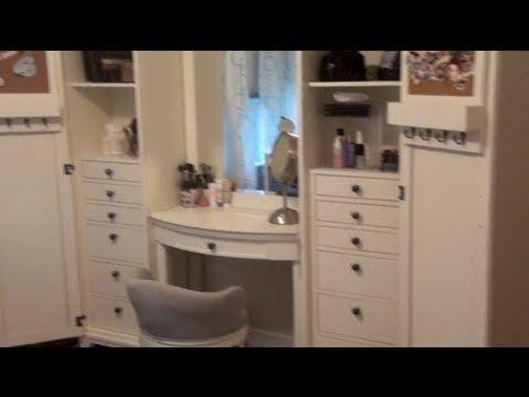 Updated Makeup Collection & Storage/Review of PBTeen Hampton Super Set Vanity