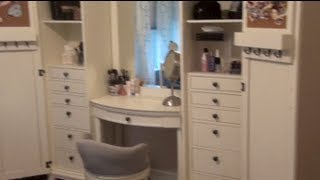 Updated Makeup Collection & Storage/review Of Pbteen Hampton Super Set Vanity | Tori Sterling ♡